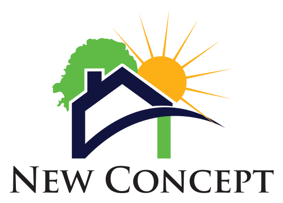 logo for new concept property management in tucson