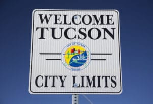 Tucson City Limits Sign